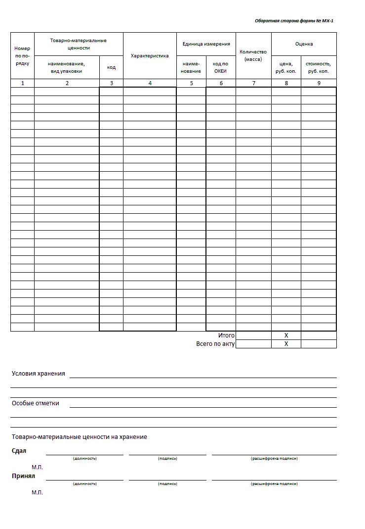 бланк заявки на товар